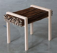bench twig ,STUDIO VACEK, Series 3xR - a collection of furniture and accessories from waste