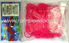 Neon Pink (Silicone)   Rainbow loom