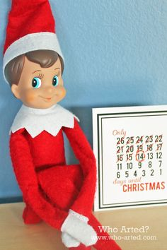 Elf on the Shelf Countdown Cards |