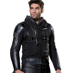 More pics of the future for the Biker. Spidi 'Neck DPS Airbag' Mens Black Mesh Protective Vest - LeatherUp.com