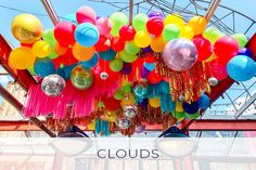 CLOUDS Balloon Ceiling, Balloon Clouds, Rainbow Balloons, Helium Balloons, Balloon Arch, Balloon Garland, The Balloon, Balloon Decorations, Bubblegum Balloons