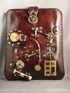 The leatherwork on this #steampunk iPad case is impressive. But perhaps it's too much? #props #indiefilm