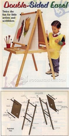 Kids Easel Plans - Children's Wooden Toy Plans and Projects | WoodArchivist.com