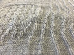 Merino knit utilising back and front bed stitches on the Shima.
