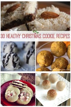 Need some healthy treats for the Christmas Holiday Season? These 30 Healthy Christmas Cookie Recipes are just what you need. These gluten free cookies are all refined sugar free and most are dairy and egg free too. Plus, they're so delicious you can serve these to non-whole foodies too and they'll be sure to love them!