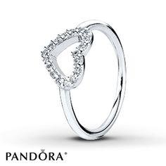 Pandora Ring CZ Valentine Sterling Silver