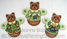 Beary Irish Angel Ornaments Pattern - Jeanne Bobish - PDF DOWNLOAD
