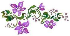 Resultado de imagen de grecas flores de color