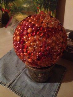 Bowling ball into garden art ;)