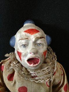 ★ German Bisque Clown Doll ★ Antique Vtg Old Hand Painted Porcelain Ceramic Toy | eBay