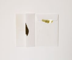 The Golden Set / 15 Handmade Paper Envelopes / 2011