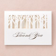In the Woods Laser Cut with Insert by B Wedding Invitations
