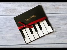 Stampin' Up! Piano card - YouTube