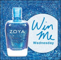 TODAY ONLY, enter to win Zoya nail lacquer! #WinItWednesday