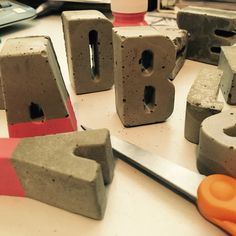 Working on some new concrete letters! #minimalhomedecor