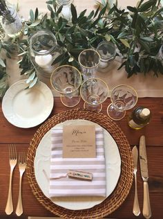 Mise en place - Tuscan Wedding