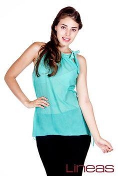 Blusa, Modelo 19012. Precio $130 MXN #Lineas #outfit #moda #tendencias #2014 #ropa #prendas #estilo #primavera #blusa