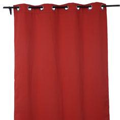 Deconovo Ring Top Curtain Home Decor 52x84 Inch Orange red - Amazon