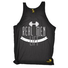 SWPS Real Men Lift Sex Weights And Protein Shakes Gym Vest Top