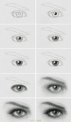 to draw a realistic eye Tutorial: How to Draw Realistic Eyes Learn how to draw a realistic eye step by step. MoreTutorial: How to Draw Realistic Eyes Learn how to draw a realistic eye step by step. Pencil Art Drawings, Drawing Faces, Art Drawings Sketches, Easy Drawings, Drawing Portraits, Drawing People Faces, How To Draw Portraits, Art Illustrations, Sketches Of Eyes