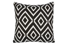 Cotton cashmere blend, bold graphic pattern, awesome price—what's not to love about the Black diamond knit pillow?