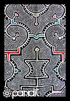 Shipibo2 by ~EkAdEsH    The shipibo art is inspired by Ayahuasca visions