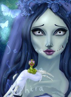 Corpse Bride by Fuzzy Scribbles. Emily Van Dort.