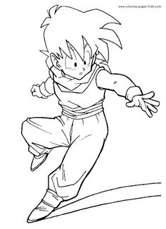 Top 20 Free Printable Dragon Ball Z Coloring Pages Online