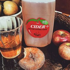 Fall treats, cider and donuts! I get giddy just thinking about it!