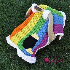 Rainbow Pot of Gold Car Seat Canopy ~ $5.00 pattern ᛡ