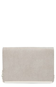 Halogen® Flap Glazed Saffiano Leather Crossbody Clutch Wallet available at #Nordstrom