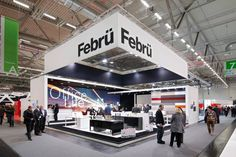 Febrü—one of many exhibitors at Orgatec, an international trade fair exhibition for ofice supplies and contract furniture. Built by Von Hagen.