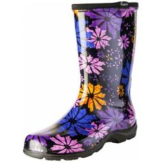 Sloggers Red Poppies Boots Size 8 Rain Garden Boots Women's Flowers for sale online Garden Boots, Rain Garden, Black Steel Toe Boots, Flower Power, Logger Boots, Classic Harley Davidson, Shoe Deals, Size 6 Women, Red Barns