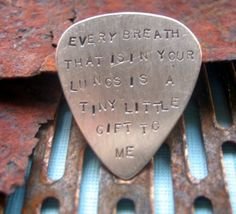 TWS lyrics on a pick...Dead Leaves & the Dirty Ground