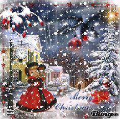 Merry Christmas gif, images, wishes, and quotes to help you share the magic of the holiday season Merry Christmas Gif, Christmas Scenery, Christmas Past, Christmas Greetings, Christmas Themes, Christmas Diy, Christmas Decorations, Holiday Decor, Vintage Christmas Images