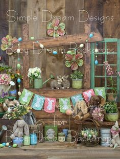 Rustic Easter stand 60x80 vertical