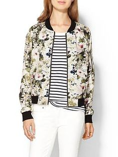 Sanctuary Floral Bomber Jacket | Piperlime