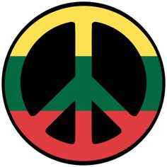 lithuanian symbols | Lithuania Peace Symbol Flag Cnd Logo peacesymbol.org Scalable Vector ...
