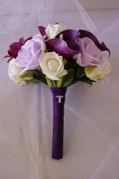 Calla Lily, Rose & Orchid Bouquet by How Divine https://www.howdivine.com.au/store/product/calla-lily-rose-orchid-bouquet