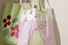 How to Sew a Pear Bag #SewSimple #Pear #Applique