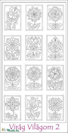 Virág Világom 2 színező lapok - nyomtatható (kedo) - Meska.hu