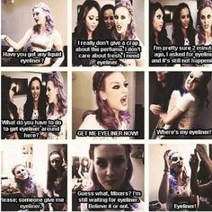 Remember when Perrie couldnt find any eyeliner <3