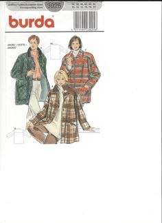Burda 3925 Pattern sizes 36-46 UNCUT by SewingasaHobby on Etsy