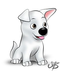 Nice piece of Bolt as a puppy. Arte Disney, Disney Art, Disney Films, Disney And Dreamworks, Bolt Disney, Disney Dogs, Cats Musical, Childhood Movies, How To Train Dragon