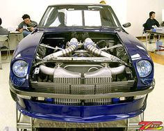 Yuki Komiyas Nissan Q45 V8 Test Fit in a Datsun 240z | LS14