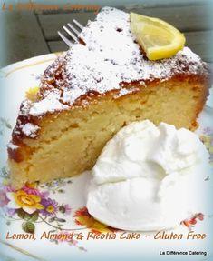 La Difference Catering: Lemon, Almond & Ricotta Cake - Gluten Free