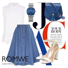 """Romwe contest"" by jasmine077 ❤ liked on Polyvore featuring Elie Tahari, WithChic, Schutz, Yoki and Maurice Lacroix"