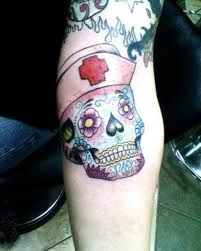 Sugar Skull Nurse Tattoo | Sugar Skull Nurse Tattoo | Things I Love just because...