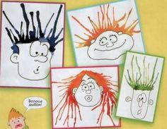 Aangezien het binnenkort carnaval is, heb ik mijn leerlingen vorige week aan het werk gezet aan knutselopdrachten rond 'gek haar'! Super ...