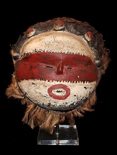 www.africaandbeyond.com  'Chisaluke' Mask from the Luvale people of Angola, Central Africa.